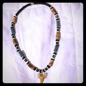 Shark tooth tribal necklace